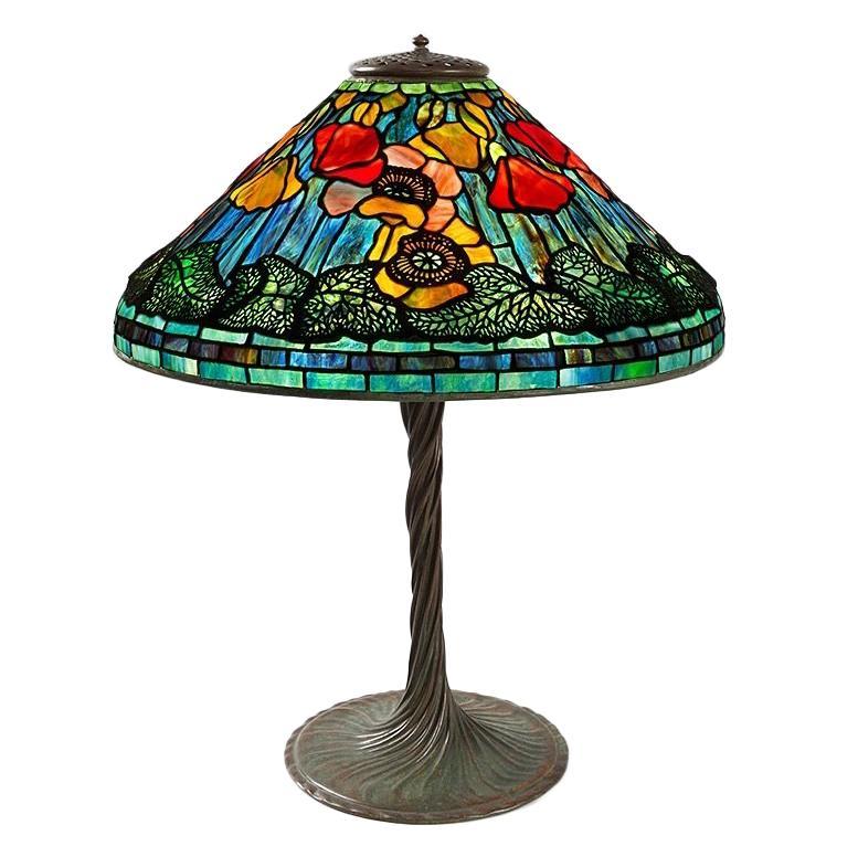 """Tiffany Studios """"Poppy"""" Table Lamp"""