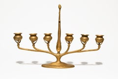 Tiffany Studios Gilt Bronze Candelabra