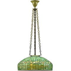 Tiffany Studios Swirling Leaf Hanging Lamp