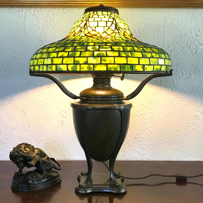 "American Tiffany Studios ""Tyler"" Table Lamp For Sale"