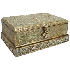 Tiffany Studios Venetian Pattern Bronze Desk or Dresser Box No. 1680