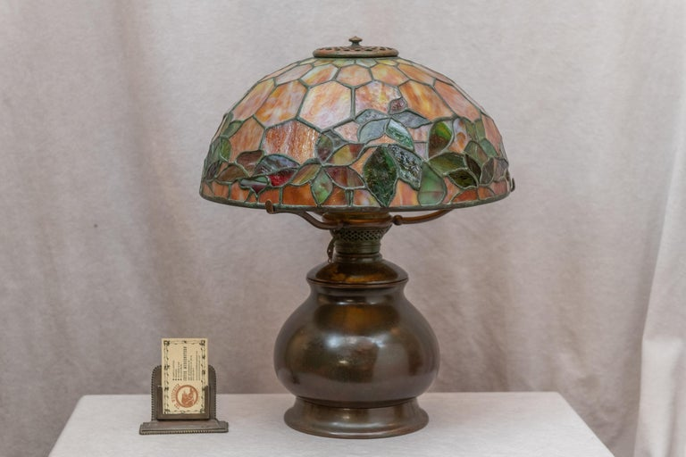 Tiffany Studios Woodbine Table Lamp For Sale 2