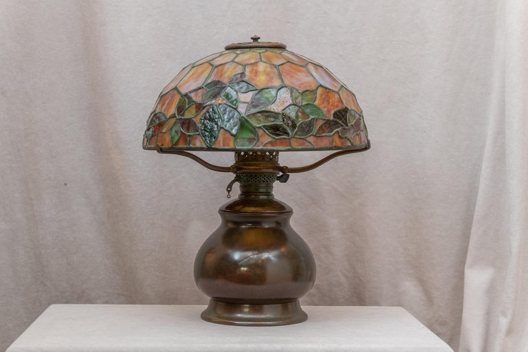 American Tiffany Studios Woodbine Table Lamp For Sale