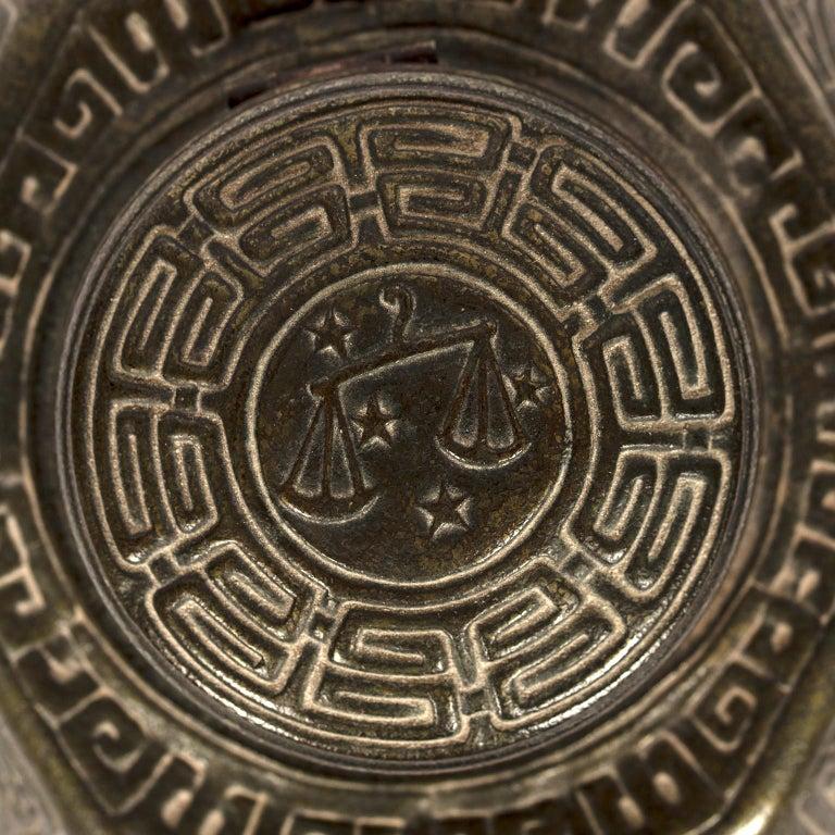 Tiffany Studios Zodiac Inkwell For Sale 1