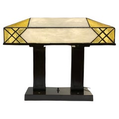 Tiffany Style Art Deco Stained Glass Rectangular Desk/Table Lamp