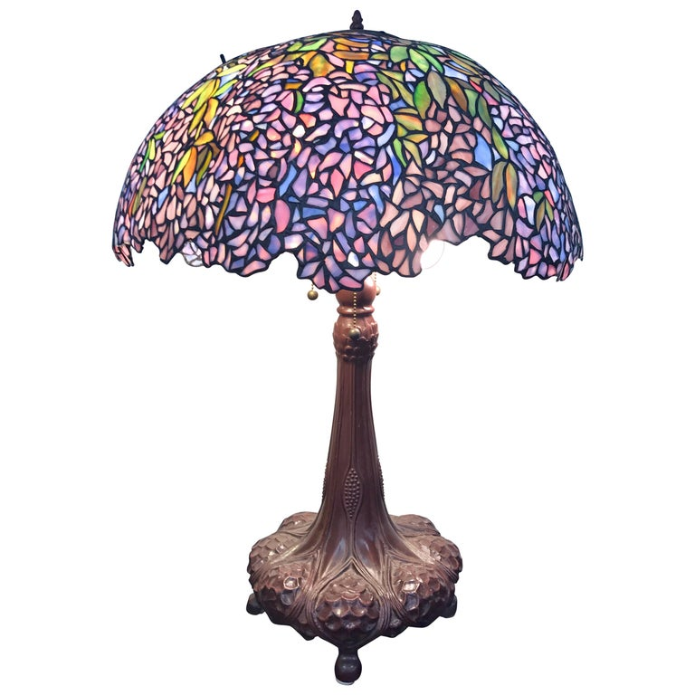 Tiffany Style Stained Gl Art Nouveau Table Lamp For