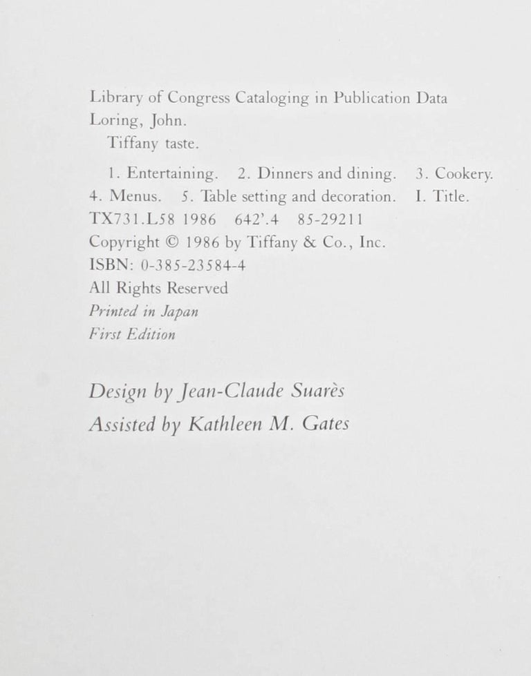 Tiffany Taste by John Loring, First Edition For Sale 14