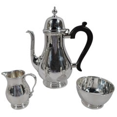 Tiffany Traditional Georgian Sterling Silver 3-Piece Coffee Set