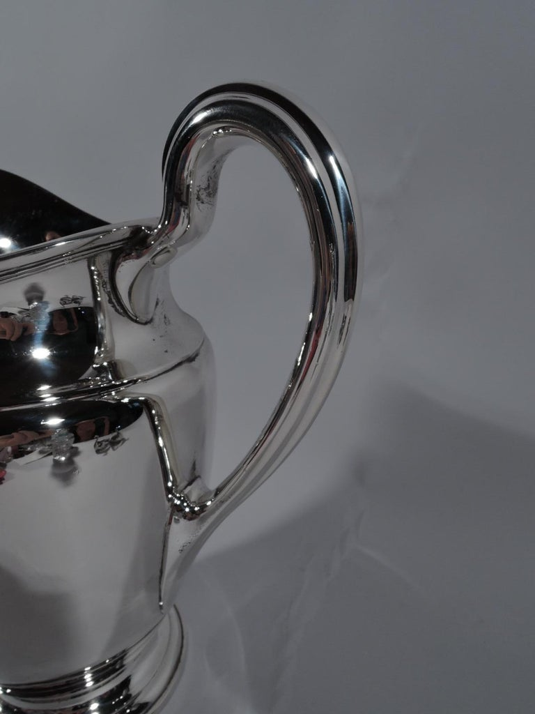 American Tiffany Traditional Sterling Silver Water Pitcher For Sale