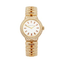 Tiffany & Co. Vintage Diamond Yellow Gold Wristwatch