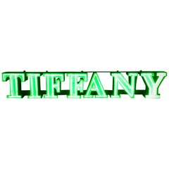 Tiffany Vintage Neon Lettering Advertising Sign, 1970s