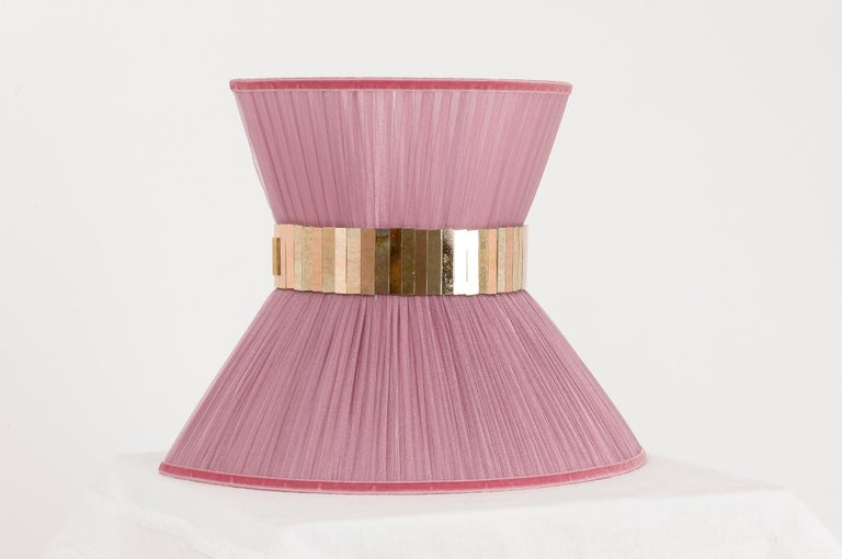 """Italian """"Tiffany"""" contemporary bowtie Wall Sconce 25, silk, Brass, Silvered Glass For Sale"""