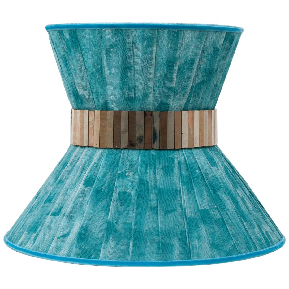 """""""Tiffany"""" contemporary bowtie wall sconce 40 turquoise, Silvered Glass, brass"""