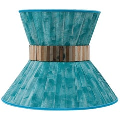 """Tiffany"" contemporary Sconce 40 turquoise, Silvered Glass,pair now available"