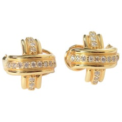 Tiffany X Earrings with Diamonds