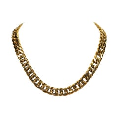 Tiffany & Co. Yellow Gold Curb Chain Statement Necklace