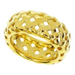 Tiffany & Co. 18 Karat Yellow Gold Mesh Gold Ring