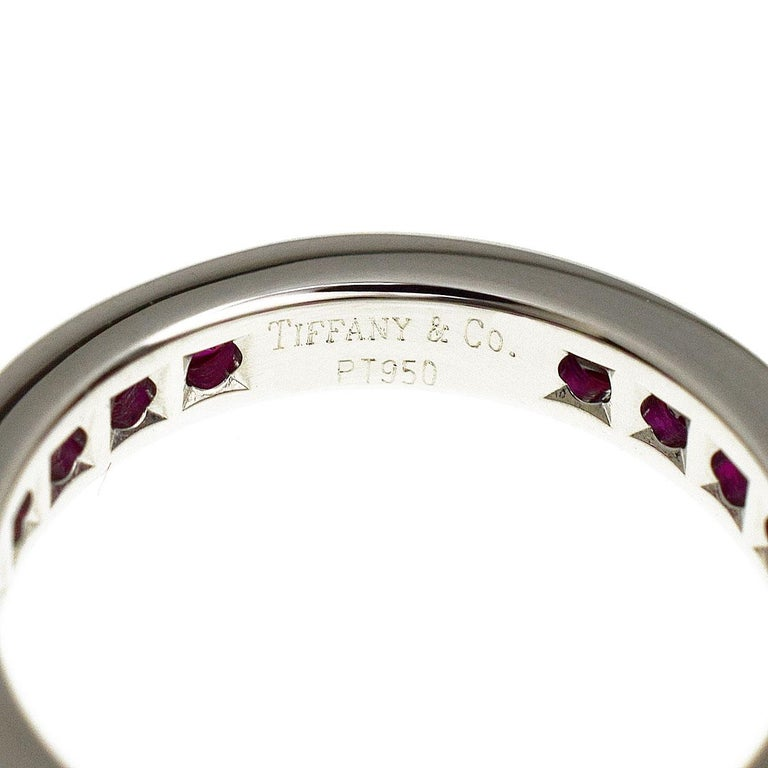 Women's Tiffany & Co Ruby Eternity Platinum Band Ring For Sale