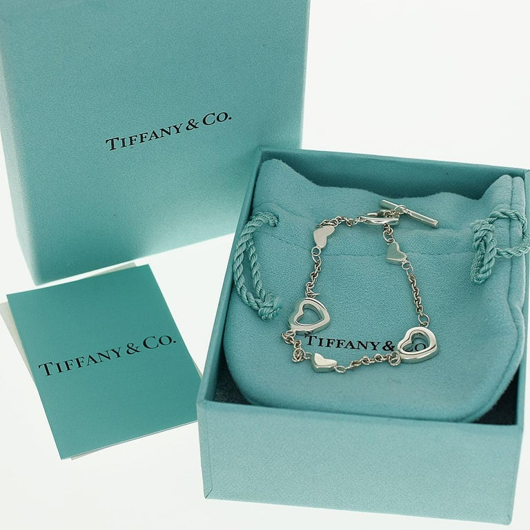 Tiffany & Co. Sterling 925 Silver Heart Bracelet 3