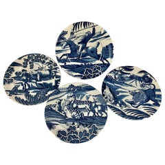 Menagerie Plates by Tiffany in Cobalt Blue-Set of 8
