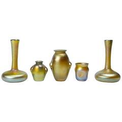Tiffanys Miniature Glasses 'Gold' Five