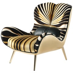 Tifnit Armchair in Velvet by Roberto Cavalli Home Interiors