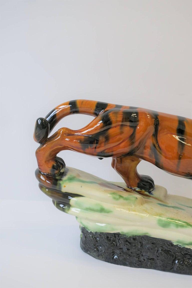 Art Deco Tiger Cat Animal Sculpture For Sale 6