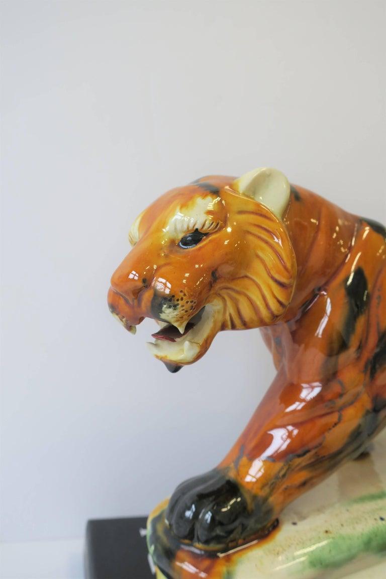 Art Deco Tiger Cat Animal Sculpture For Sale 7