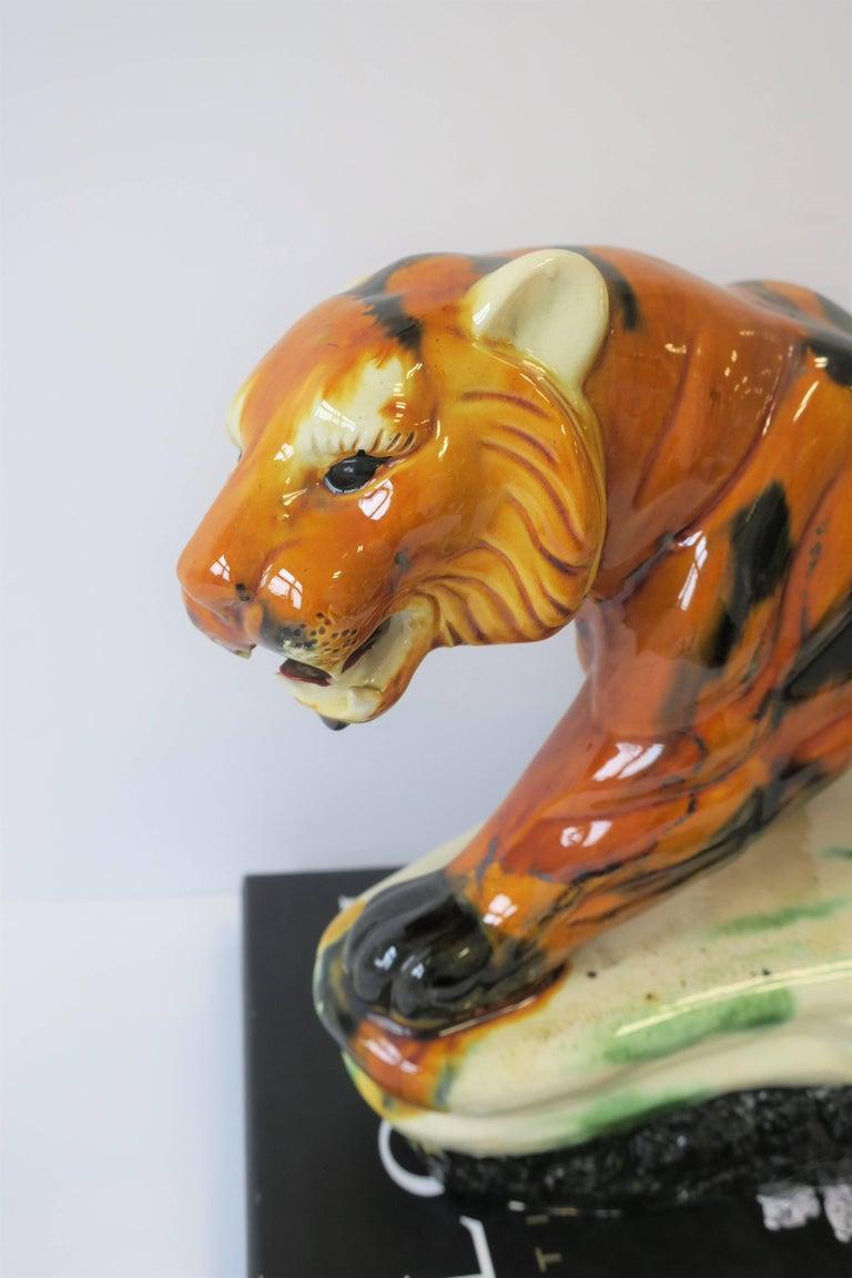 Art Deco Tiger Cat Animal Sculpture For Sale 8