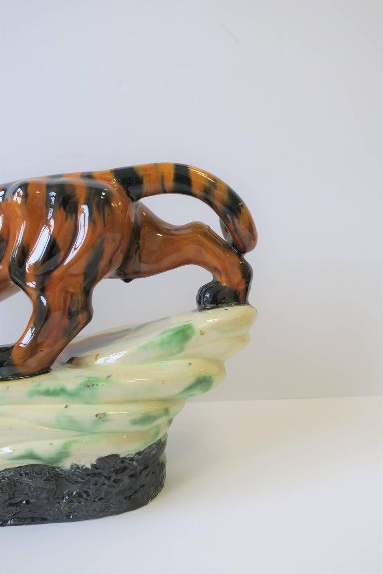 Art Deco Tiger Cat Animal Sculpture For Sale 1