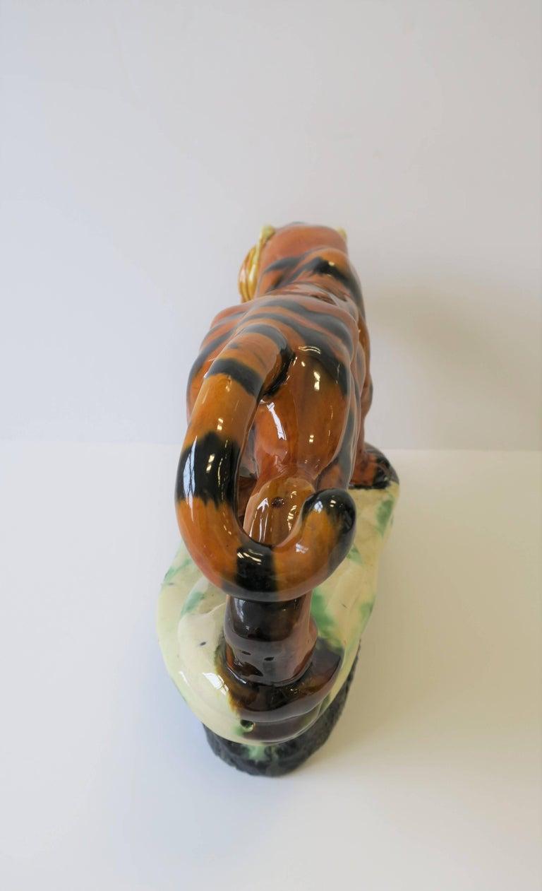 Art Deco Tiger Cat Animal Sculpture For Sale 2