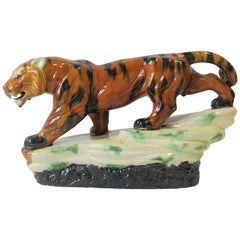 Art Deco Tiger Cat Animal Sculpture