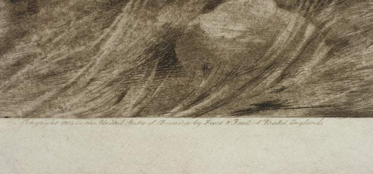 British Tiger Etching by Herbert Dicksee, the Destroyers For Sale