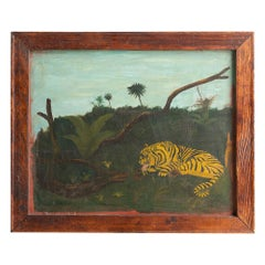 Tiger Folk Art Painting