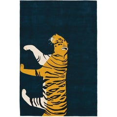 Tiger Hand-Knotted 10x8 Rug in Wool by Edward Barber & Jay Osgerby