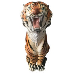 Tiger in Terracotta, 1960s, Italy