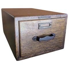 Tiger Oak Card Catalog Box by Library Bureau Makers