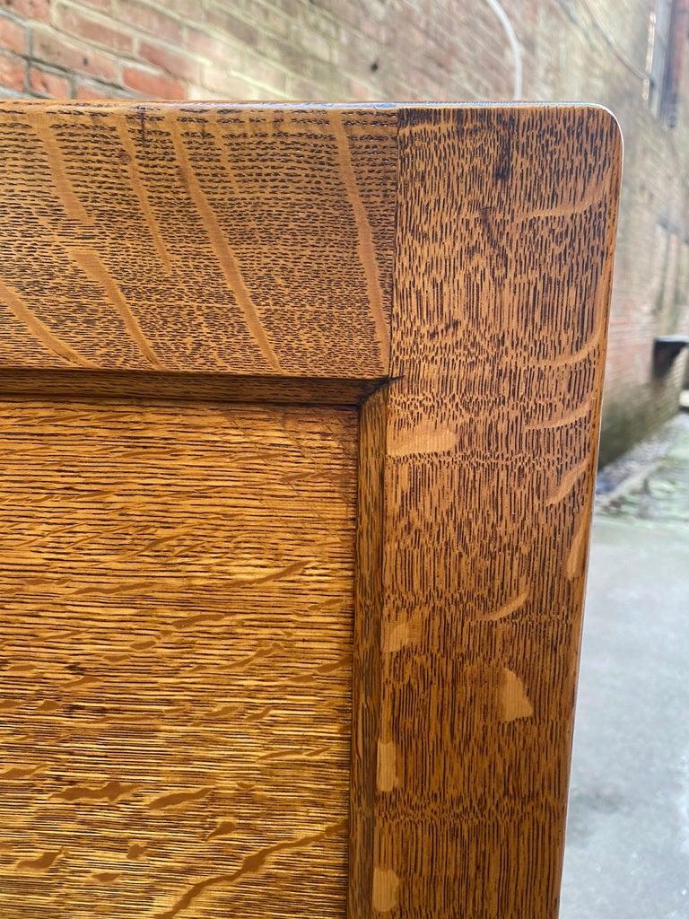 Tiger Oak Four Drawer File Cabinet For Sale 5