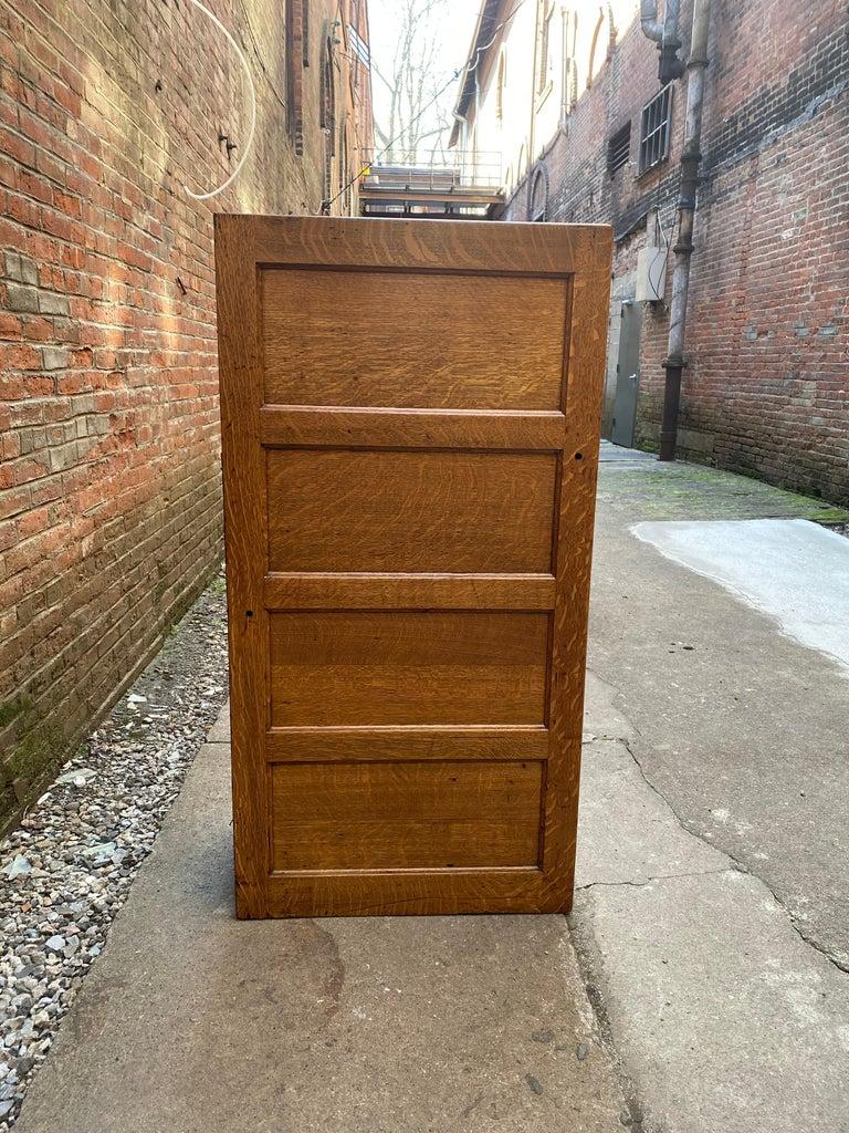 Tiger Oak Four Drawer File Cabinet For Sale 2