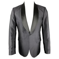 TIGER of SWEDEN Size 40 Black Silk Shawl Collar Sport Coat