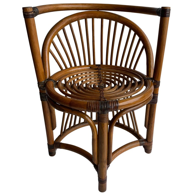 Tiger Wood Bamboo Rattan Dinning Table and Chairs Set  For Sale 2