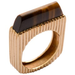 Tiger's Eye Gold Ring