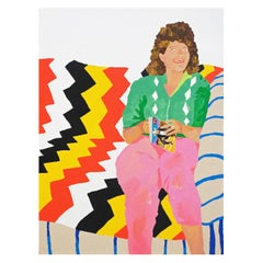 'Tight Perm, Loose Lips' Portrait Painting by Alan Fears Pop Art