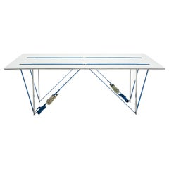 Tighten Side Table Contemporary Table in Aluminium by Nebbia Works