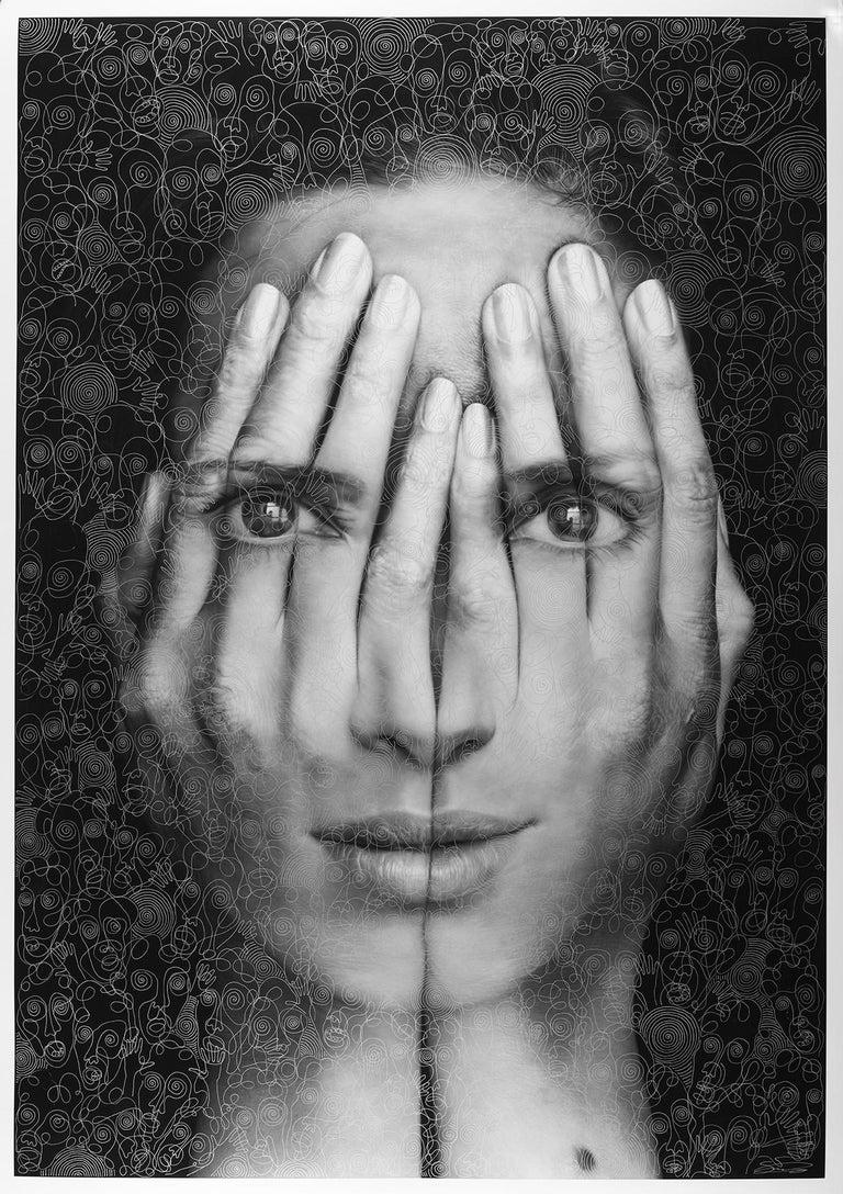 Mirror II - Mixed Media Art by Tigran Tsitoghdzyan