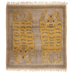 Tigris Nepalese Orange and Beige Wool Rug