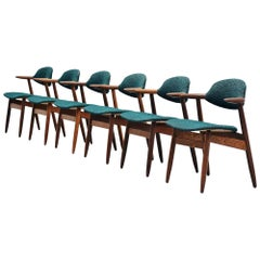 Tijsseling Cowhorn chairs by Hulmefa Holland, 1960