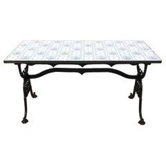 Tile Top Garden Table