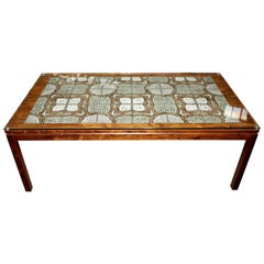 Tile Top Rosewood Cocktail Table