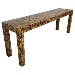 Tiled Bone Parsons Console Table by Garrison Rousseau